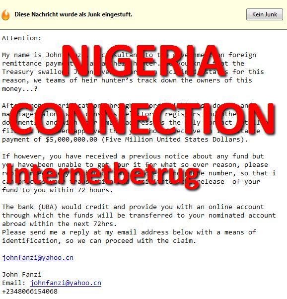nigeria connection - Internet Betrug John Fanzi +2348066154068