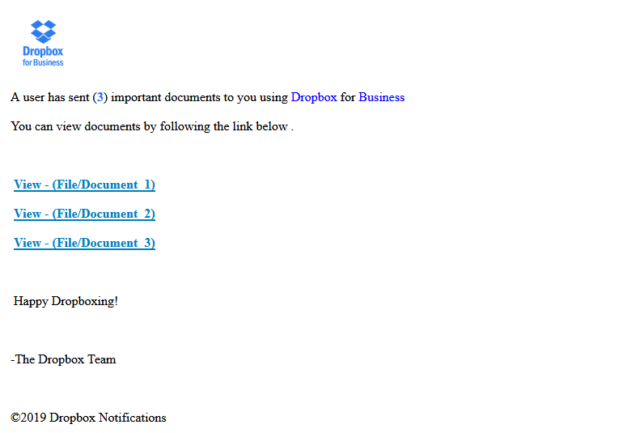 Dropbox - Fakemail - Virus