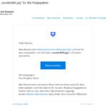 Dropbox – So sieht eine echte Freigabemail aus