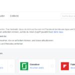 Facebook Apps und Websites – Verknüpfungen mit Facebook-Konto prüfen