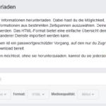 Facebook Datensicherung – Sicherung deiner Facebook Daten