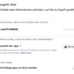 Facebook – Privatsphäre – Apps und Websites Berechtigungen