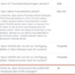 Facebook Privatsphäre – Möchtest Du, dass Suchmaschinen außerhalb von Facebook dein Profil anzeigen