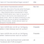 Facebook Privatsphäre – Wer kann deine Freundesliste sehen