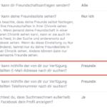 Facebook Privatsphäre – Wer kann mithilfe der von dir zur Verfügung gestellten E-Mail-Adresse nach dir suchen