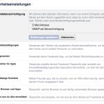 Facebook Sicherheit: Anmeldebenachrichtigung – Werde über jeden Versuch eines Facebook Logins benachrichtigt.