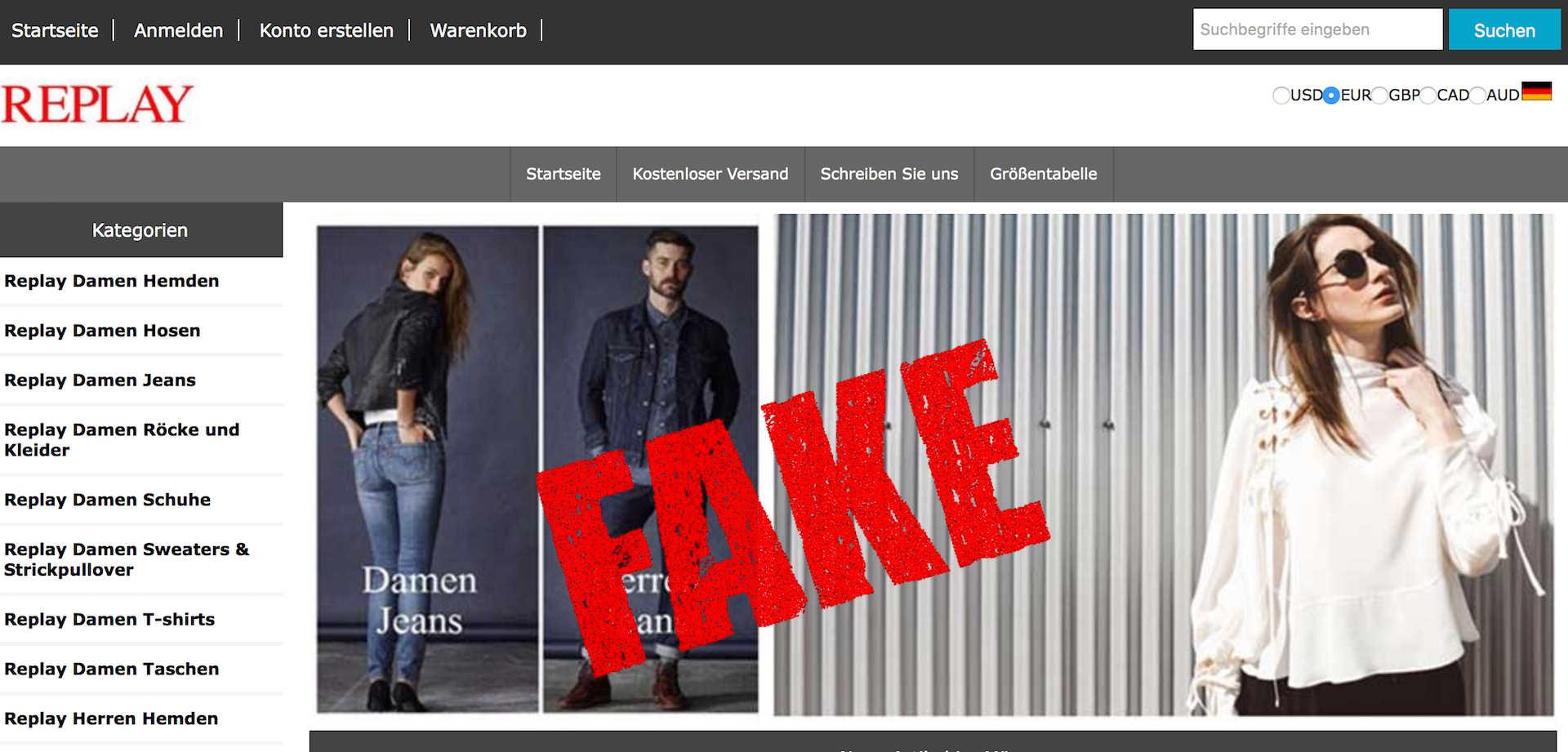 cheap for discount cf851 fb085 Fake-Shop: Replayonlinesale.de - Finger weg! - Sicheres-Netz ...