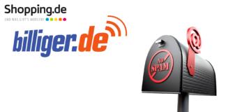billiger-de spam - shopping-de Spam-Mail bei gmx
