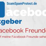 Facebook Freunde sehen – Wer darf meine Freunde auf Facebook sehen – Freundesliste anzeigen