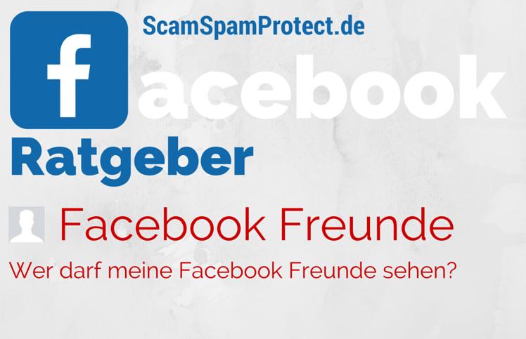 Facebook Freunde - Privatsphäre für Freundesliste auf Facebook bearbeiten