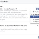 Facebook Freunde – Privatsphäre für Freundesliste auf Facebook bearbeiten