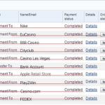 Gefälschte PayPal Kontostände Zahlungsbelege auf Mark-Festverzinsliche.com mit gefakten Zahlungseingängen.