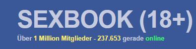 SPAM-Mail von zweitzustellung.com mit Link zu sexbook-18.com